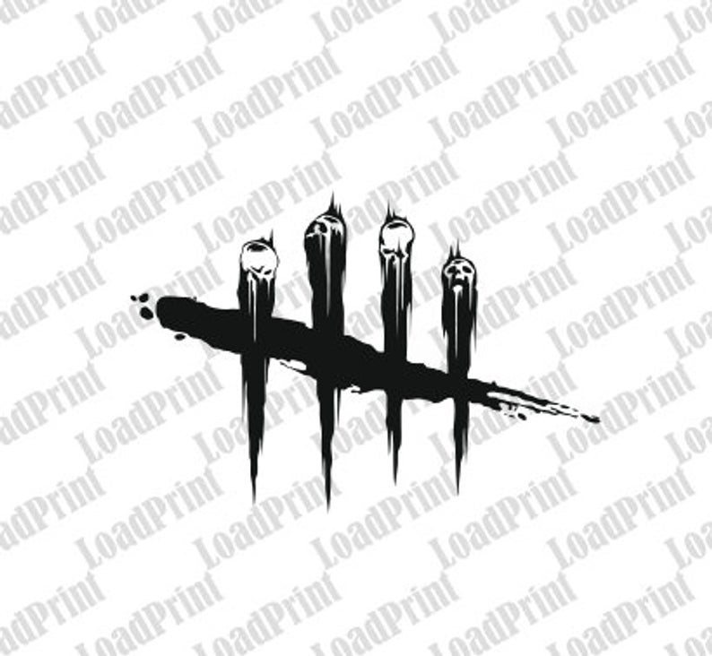 2x DBD Dead by Daylight logo Skull, 2x SVG file , clipart PNG, eps, dfx,  scrapbooking cutfile, sticker, vector format for shirt , cricut.