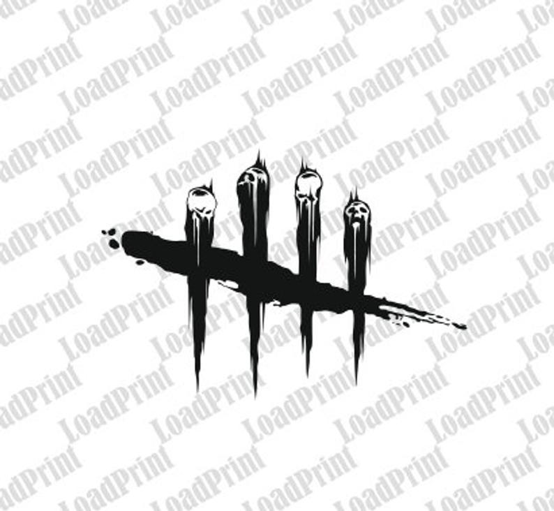 2x DBD Dead by Daylight logo Skull, 2x SVG file , clipart PNG, eps, dfx,  scrapbooking cutfile, sticker, vector format for shirt , cricut.