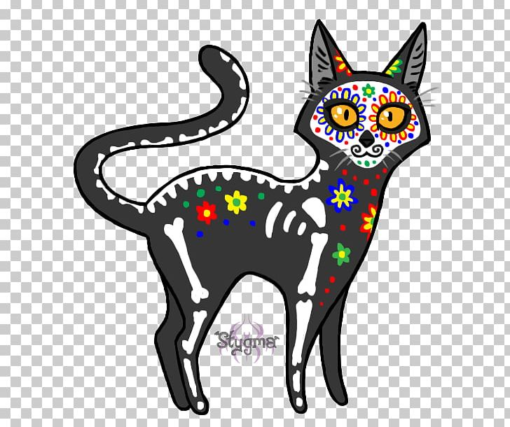 Day Of The Dead Calavera Cat Death Whiskers PNG, Clipart.