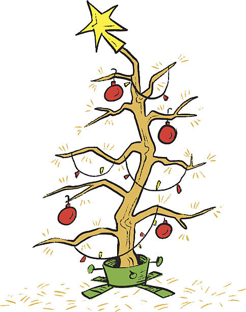 Dead Christmas Tree Illustrations, Royalty.