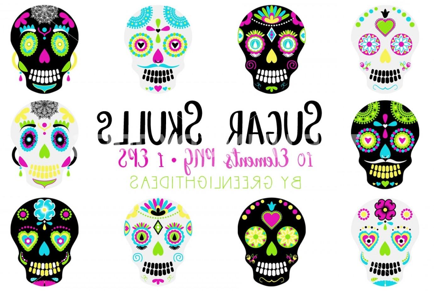 Sugar Skulls Clipart Day Of The Dead Clipart Sugar Skulls Vector.