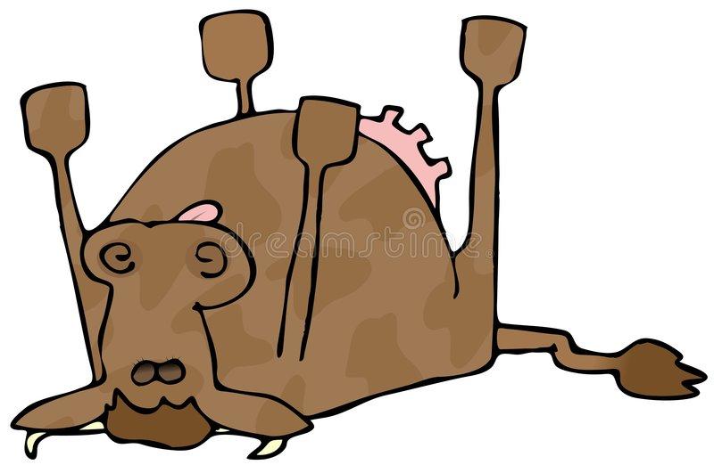 Dead Cow Stock Illustrations.