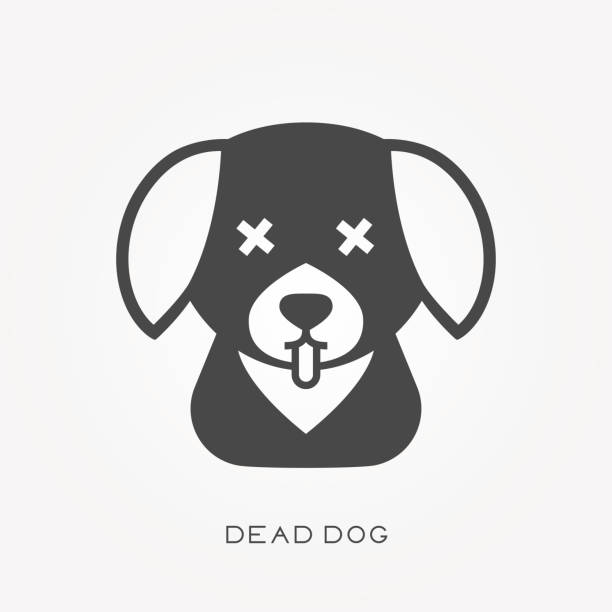 Best Dead Dog Illustrations, Royalty.