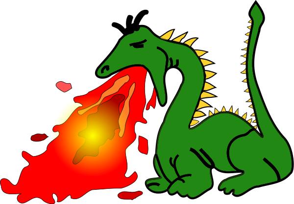Fire Breathing Dragon Clip Art Download.