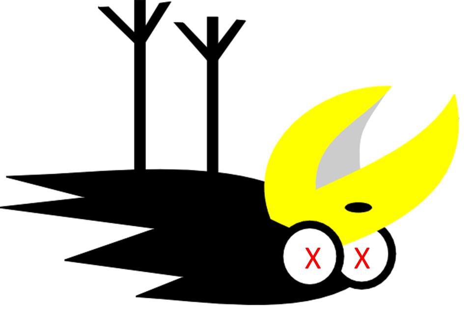 Dead Bird Clipart.