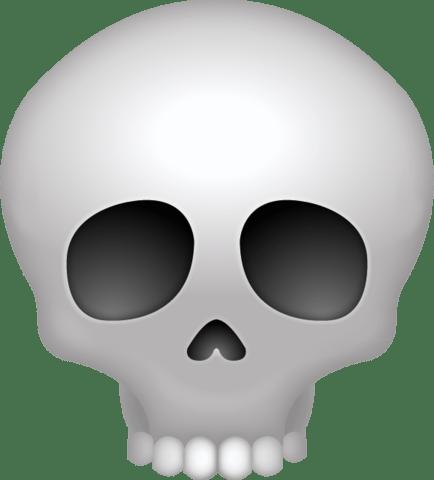 Skull Emoji transparent PNG.