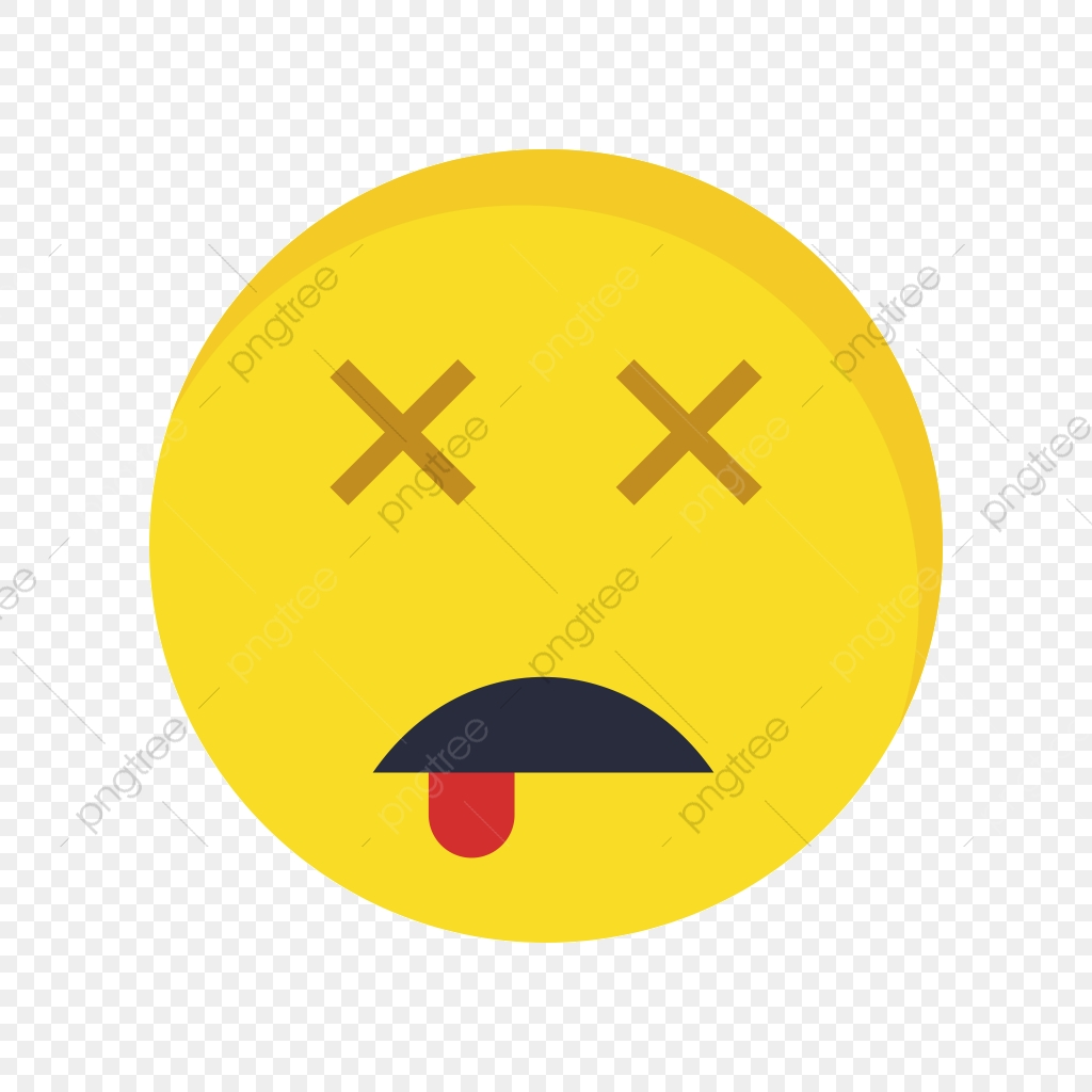 Dead Emoji Vector Icon, Dead, Emoji, Emoticon PNG and Vector with.