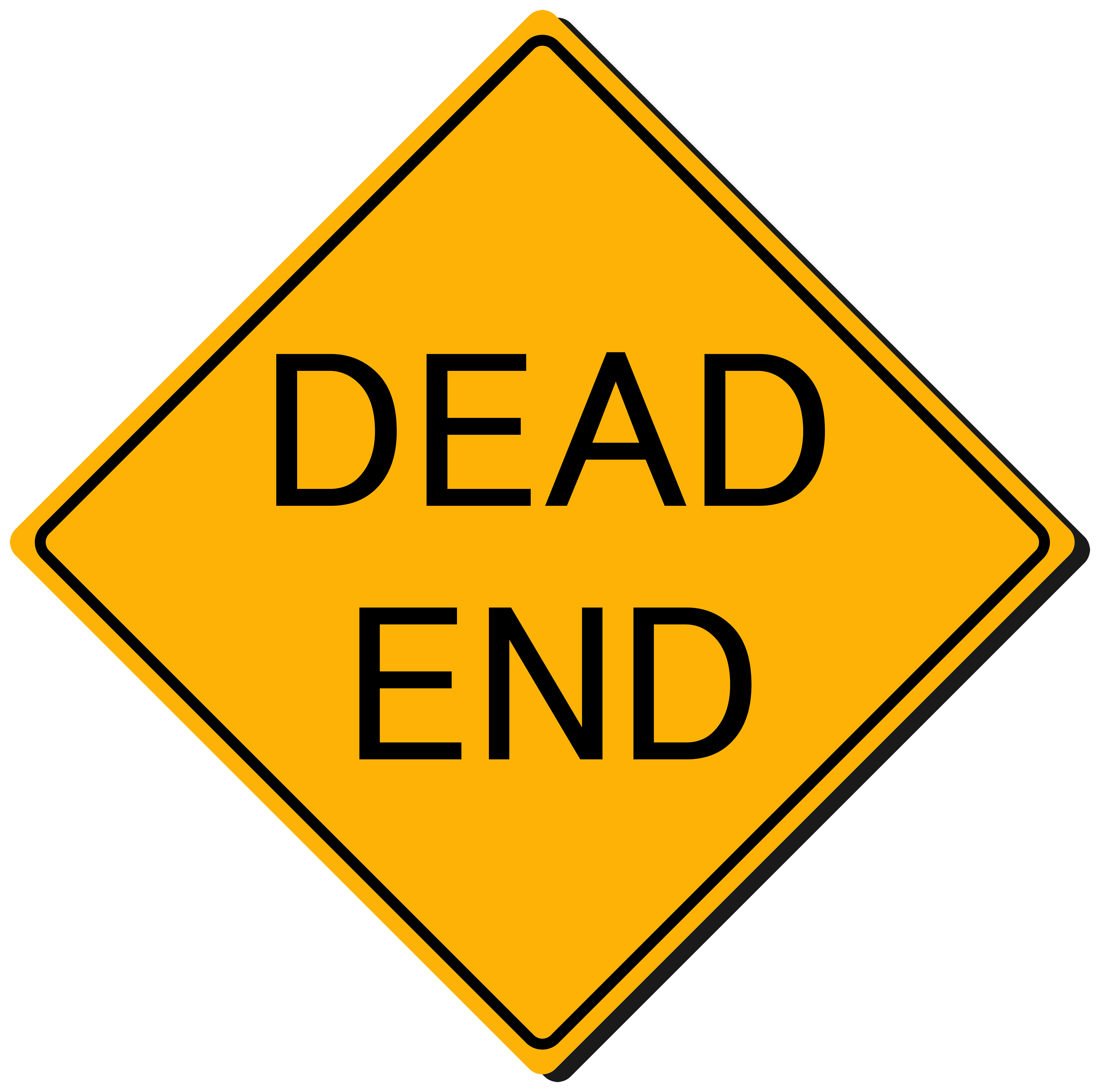 Dead End Sign PNG Clipart.