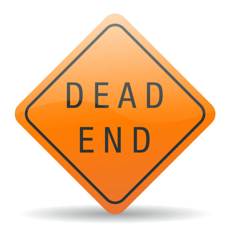 Free Clipart: Dead end sign.