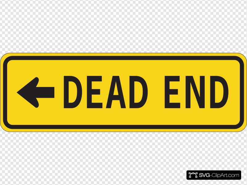 Dead End Traffic Sign Clip art, Icon and SVG.