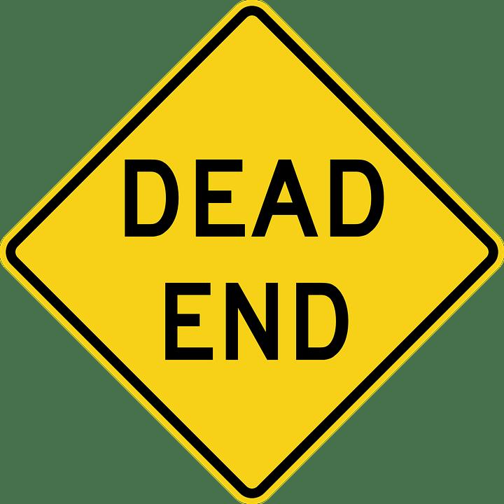 Dead End Road Sign transparent PNG.