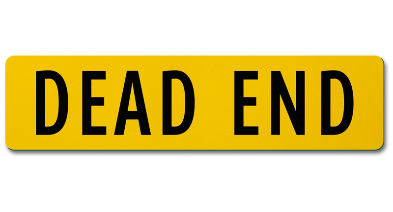 Flat Blade Dead End Street Name Sign.