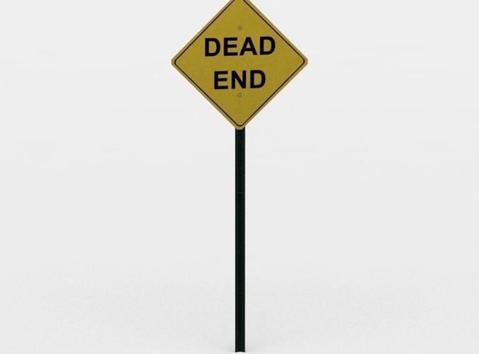 Dead end sign.