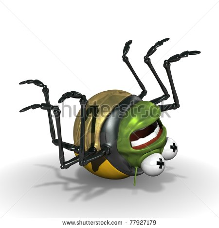 Squashed Bug Clipart.