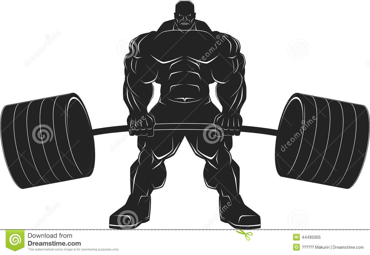 Crossfit barbell clipart.