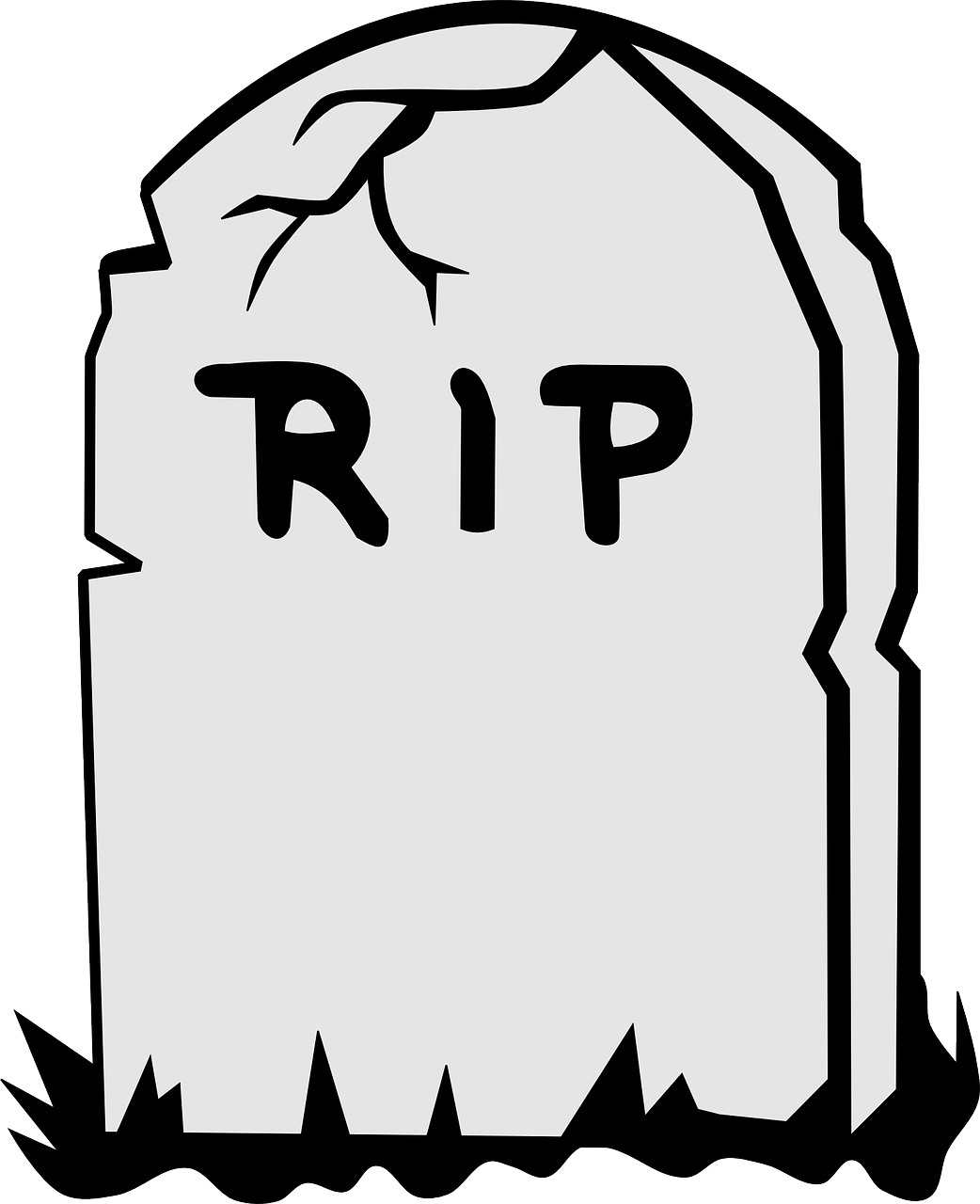 Tombstone Rip Dead Death PNG.