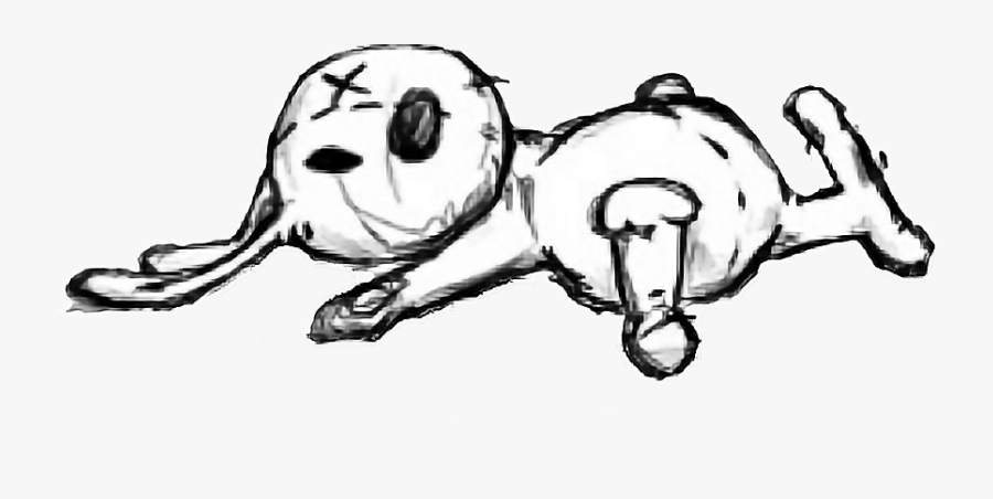 creepy #bunny #cartoon #drawing #dead #x #rabbit #rabbitface.