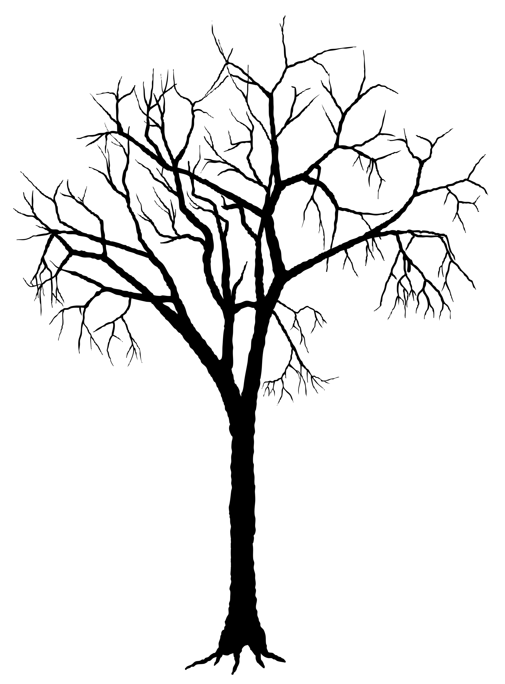 Tree Roots Silhouette Clip Art.