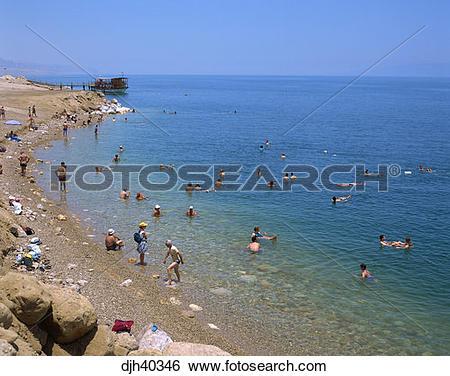 Stock Images of Israel, Dead Sea, Eingedi Beach djh40346.