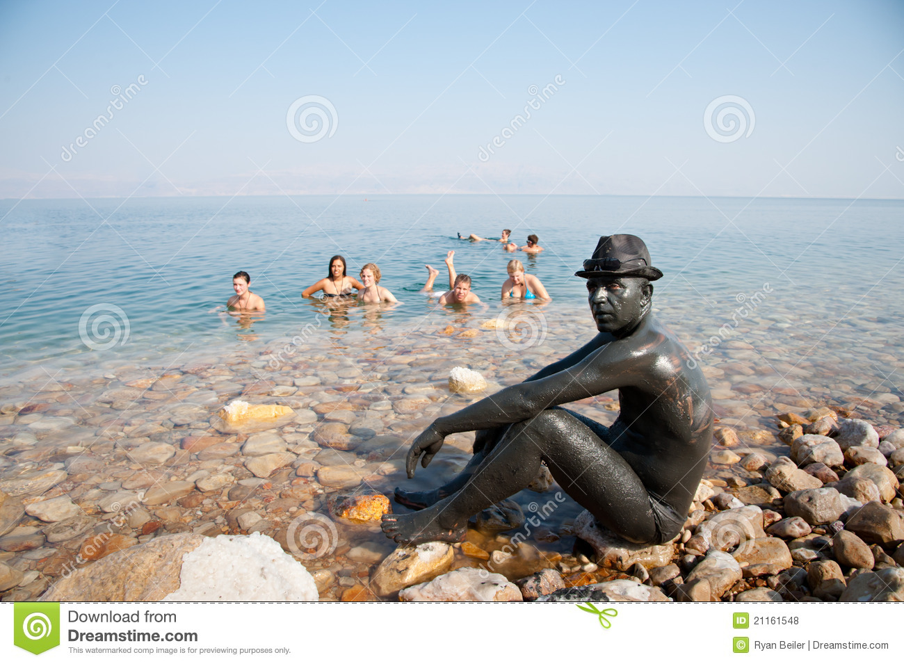 Clear, Blue Water, Dead Sea, Israel Royalty Free Stock Photography.