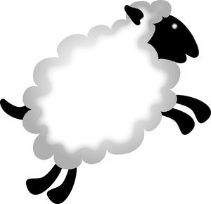 Lamb Clipart Image Baby Farm Animals A Jumping Lamb.