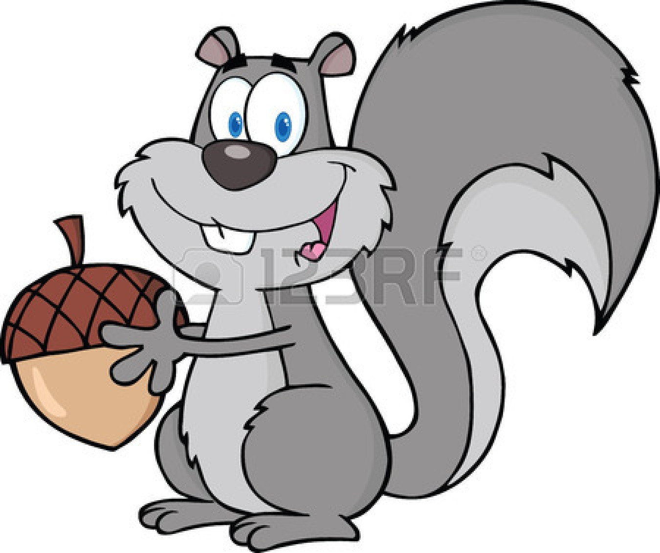 Running Squirrel Clipart.