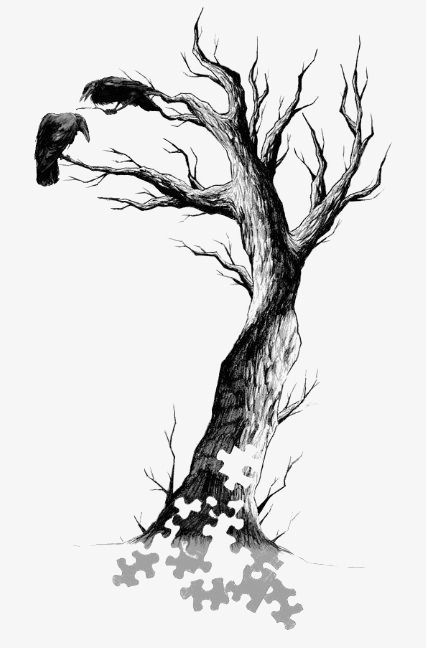 Black Dead Tree, Tree Clipart, Creative Withered, Trees PNG.