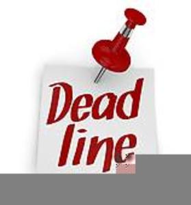 Newsletter Deadline Clipart.
