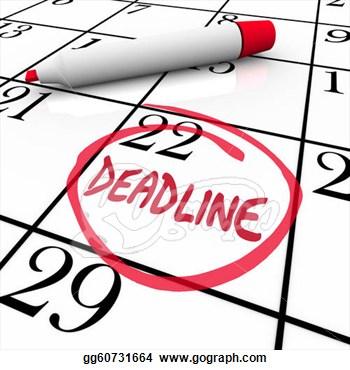 Deadlines Clipart.