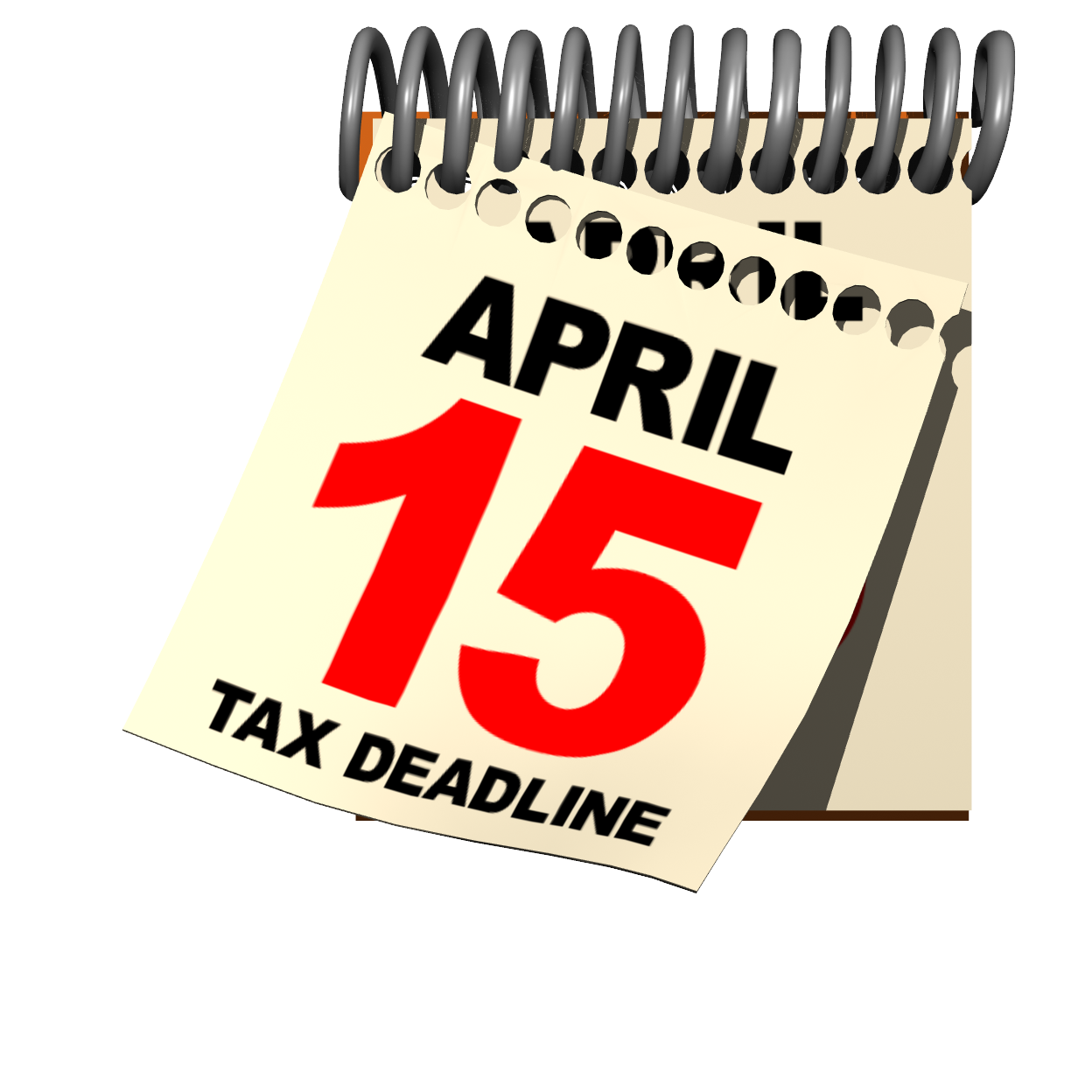 Tax April 15 Day Clipart.