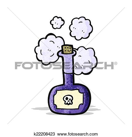 Clipart of deadly poison bottle cartoon k22208423.
