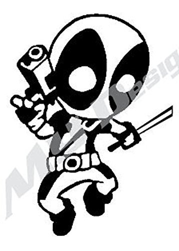 Amazon.com: Deadpool Car Decal 4in X 7in BLACK or WHITE.