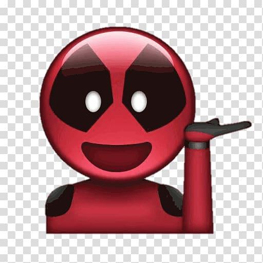 Deadpool Emoji YouTube Sticker Cable, Deadpool emoji.