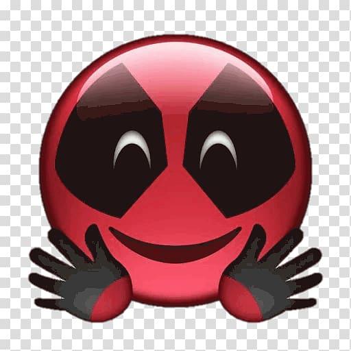 Deadpool Emoji Sticker Comics, Deadpool emoji transparent.