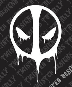 Details about Deadpool logo car truck vinyl decal sticker marvel dead pool  comic book xmen.