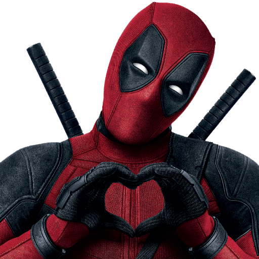 Deadpool Heart Sign transparent PNG.