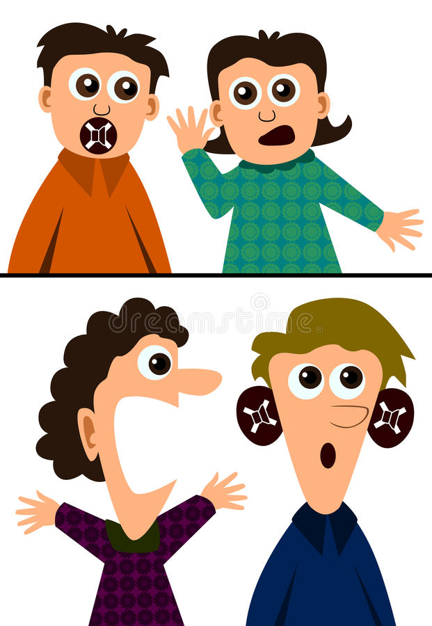 Deaf Stock Illustrations.