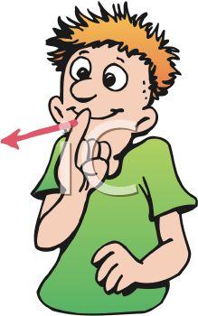 Cartoon of a Deaf Signing.