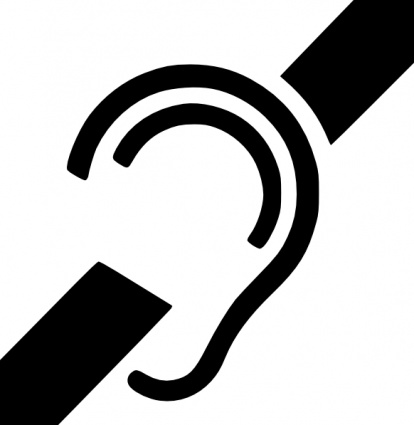 Deaf Symbol clip art free vector.