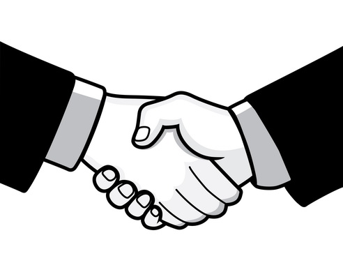 Business deal clipart.