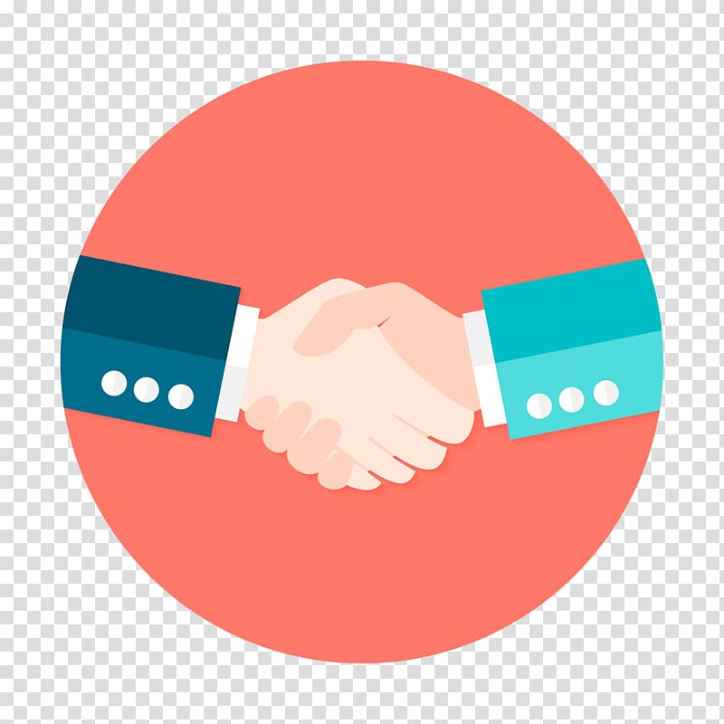 Two person shake hands illustration, Partnership Computer.
