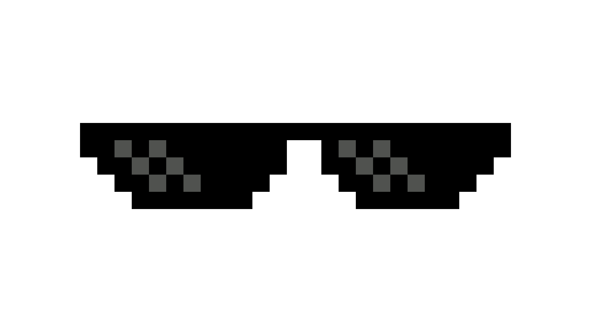 Download Deal With It Sunglass PNG Image.