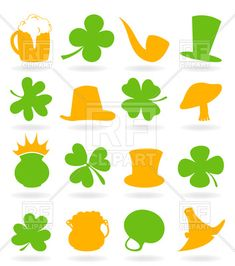 36 Best St. Patrick\'s Day Holiday Vector Art images in 2019.