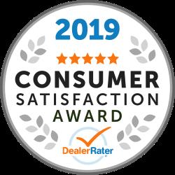 2019 Dealer Rater Consumer Satisfaction Award.