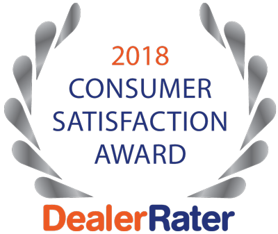 DealerRater Awarded Us the Consumer Satisfaction Award!.