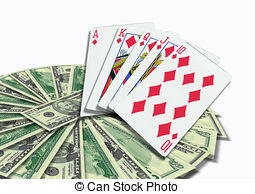 Clip Art of Poker Cards Texas Holdem border.