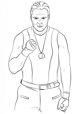 Wwe Dean Ambrose Coloring Pages.