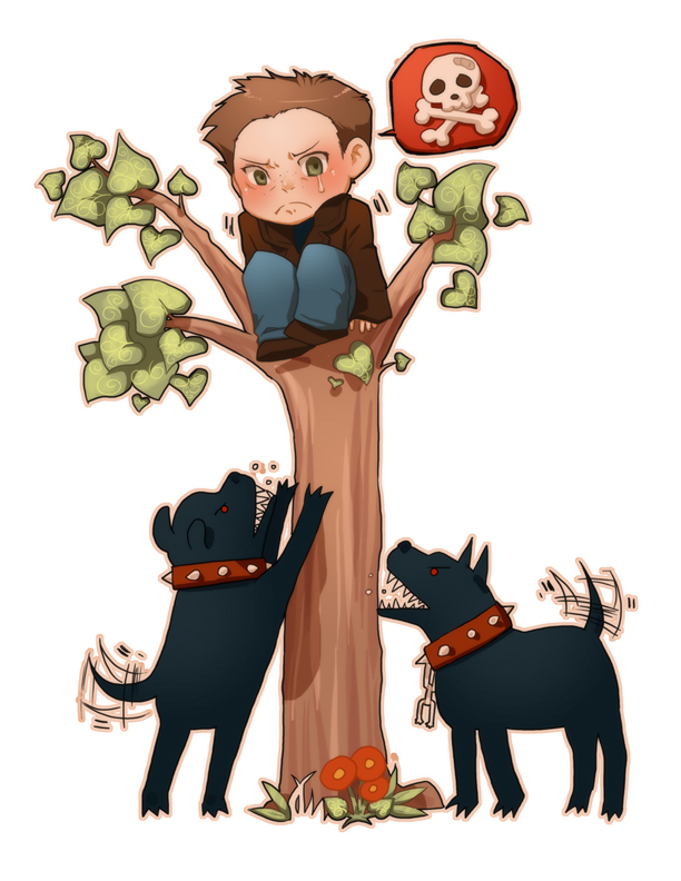 Tags: Anime, Dog, Hellhound, Hell, In A Tree, Supernatural, Dean.