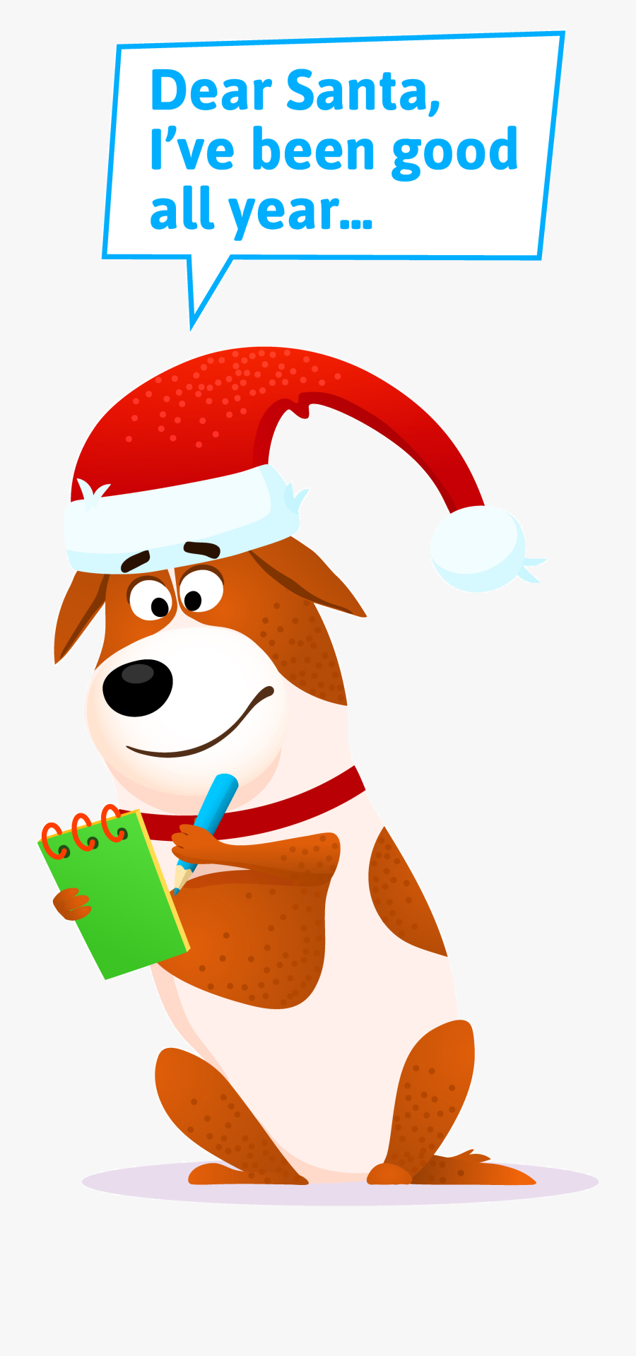 Letter Dear Santa From Dogs , Free Transparent Clipart.