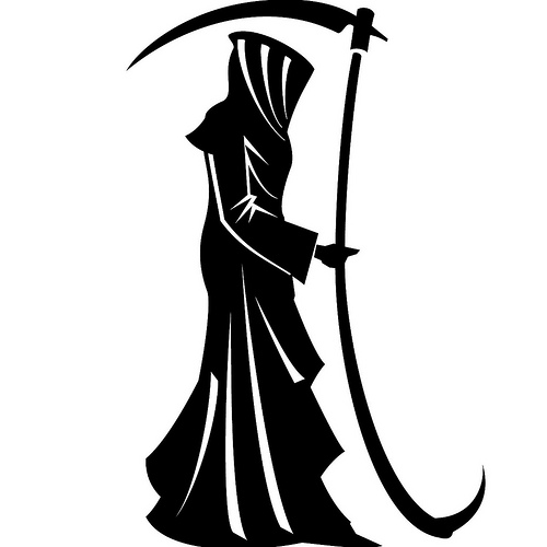 Death clipart black and white.